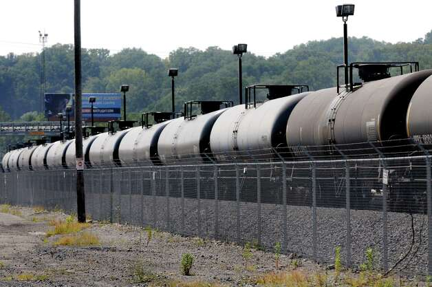 Oil trains parked in Kenwood Yard on Tuesday, Sept. 1, 2015, at the Port of Albany in Albany , N.Y. (Cindy Schultz / Times Union) Photo: Cindy Schultz / 00033195A