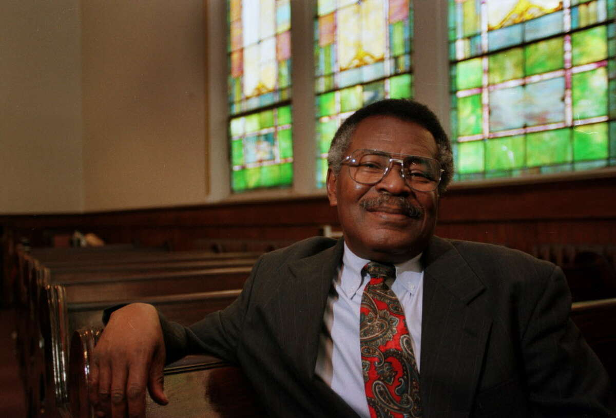 Reverend Beresford Bailey, pastor of Star of Bethlehem Missionary Baptist Church, Monday, Nov. 6, 2000, in Albany, N.Y. (Gina Gayle/Times Union archive)