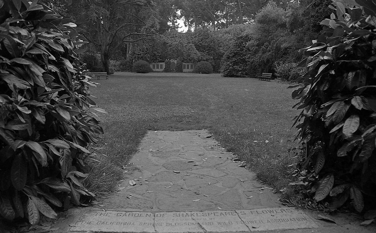 commonly know as Shakespeare's Garden, the Garden of Shakespeare's Flowers is in Golden Gate Park Photo shot 09/28/1967