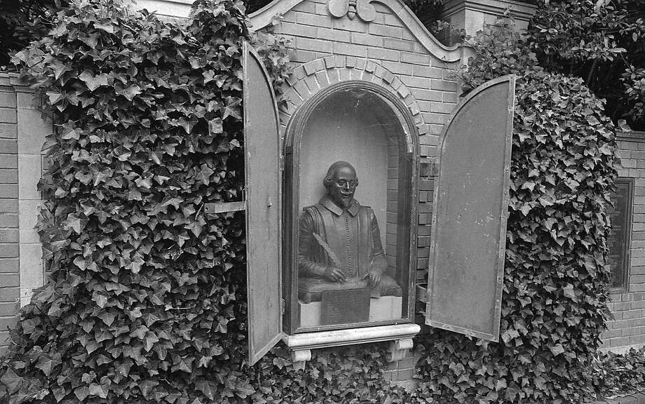 The Garden of Shakespeare's Flowers in Golden Gate Park features a bust of its namesake. This photo was shot Sept. 28, 1967. Photo: Art Frisch, The Chronicle