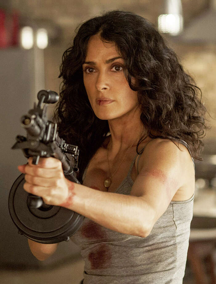 "Salma Hayek plays the title character in the excessive revenge tale ""Everly."" Illustrates FILM-EVERLY-ADV06 (category e), by Michael O'Sullivan © 2015, The Washington Post. Moved Wednesday, March 4, 2015. (MUST CREDIT: RADiUS-TWC.) Photo: HANDOUT / THE WASHINGTON POST"