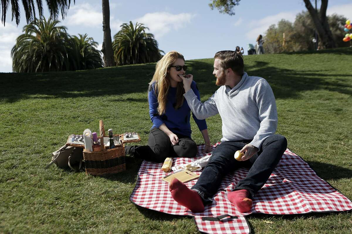 During a picnic