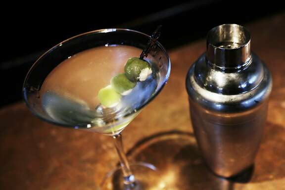 The Epic Gin Martini is pictured at Epic Steak in San Francisco, Ca. on Tuesday, September 1, 2015. The martini sells for 18 dollars.