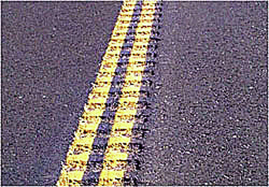 The state Department of Transportation is considering the installation of rumble strips as a traffic-safety measure along the centerlines of some roads around the state, including a few in Fairfield. Photo: Contributed / Contributed Photo / Fairfield Citizen