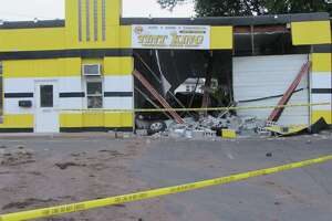 Truck crashes through Colonie Tint King building - Photo