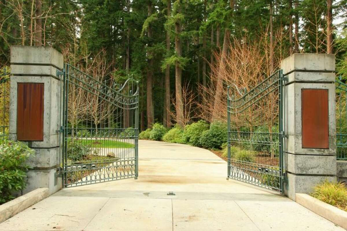 Here is the entrance to the property on south Whidbey Island. It's listed for $3.9 million.