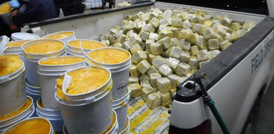 The U.S. Customs and Border Protection seized 2,669 pounds of marijuana hidden inside buckets of frozen mango pulp on Aug. 28.
