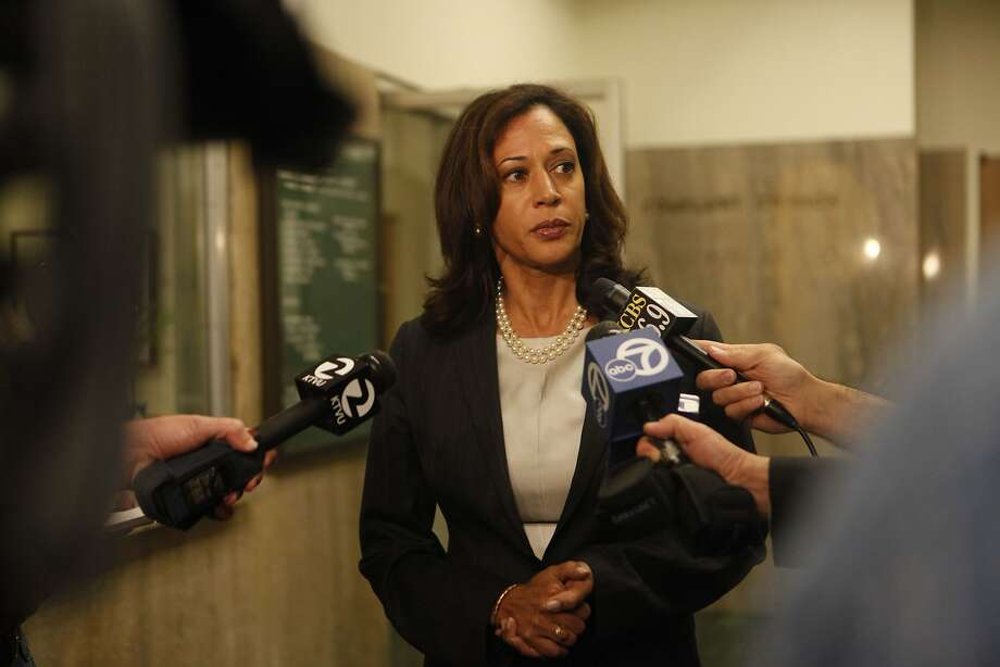 Attorney General Kamala Harris, shown explaining why she would not seek the death penalty against Edwin Ramos, has defended the law in federal court. Photo: Mike Kepka, The Chronicle