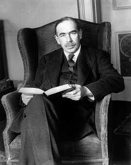 "THIS IS A HANDOUT IMAGE. PLEASE VERIFY RIGHTS. COMMANDINGB-C-28MAR02-BU-HO --- British economist John Maynard Keynes, who was Hayek's academic and intellectual rival, advocated government spending to fight the great depression.  After World War II, Keynes' ideas spread rapidly and became the basis for the ""thirty glorious years"" of postwar economic growth. credit: © Bettmann/CORBIS  (HANDOUT PHOTO)"