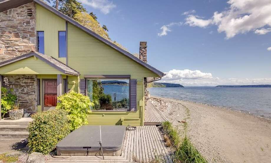 Beachside on Camano Island, this two-bedroom, four-bath home at 3239 Mabana Road is a time capsule back to the 1970s, even though it was built in 1980. The 3,221-square-foot home is listed for $879,000 and you can see the full listing here.