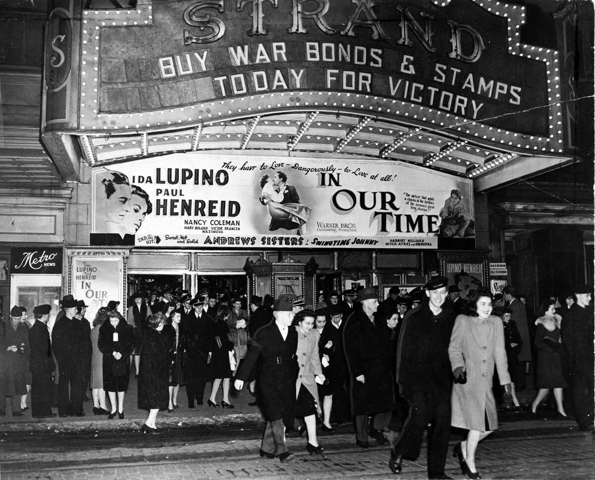 Keep clicking through the slideshow to see historical photos of Albany theaters. Strand Theatre Feb. 18, 1944, at 110 North Pearl St. in Albany, N.Y. (Times Union Archive)
