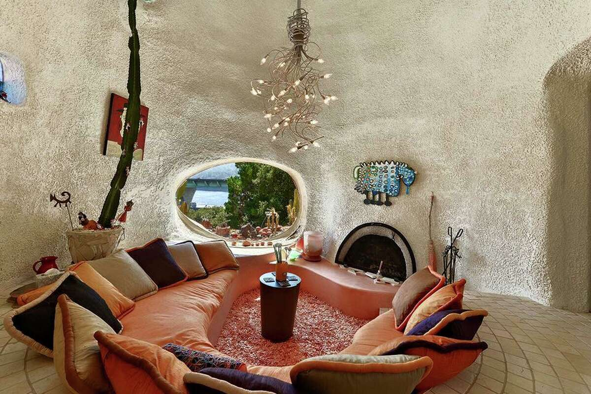 The Flintstone House in Hillsborough, Calif., was designed by architect William Nicholson and built in 1976.