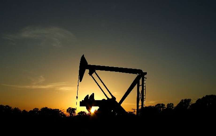 A pumpjack draws oil near Van in Northeast Texas. (Matt Slocum/Associated Press)
