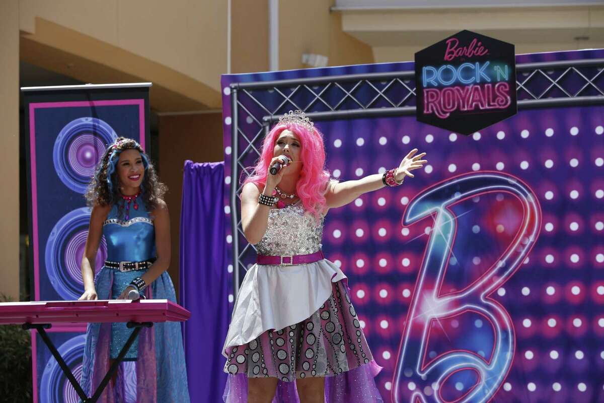 """""""Raise Your Voice with Barbie in Rock 'N Royals"""" Live Show at Katy Mills Mall. (Photo by Christy Radecic/Invision for Mattel/AP Images)"""