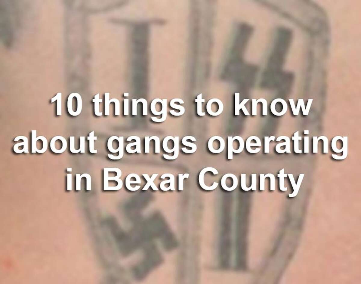 Scroll through the slideshow for 10 things you need to know about gangs operating in Bexar County, according to the Texas Department of Public Safety.