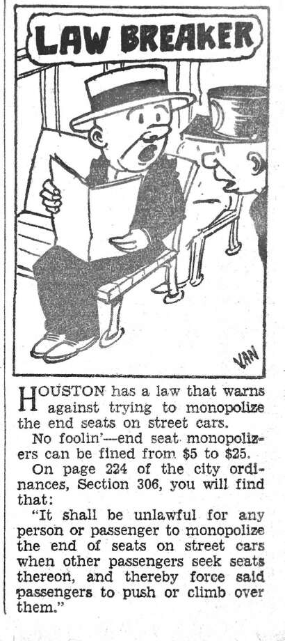 Houston Press illustration, 1930. Click on the third button in the lower right corner of the photo gallery to see a larger image. Photo: Houston Press