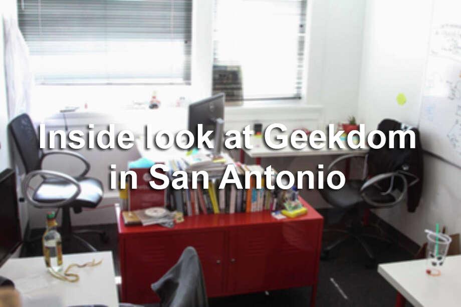 See what it's like to work at San Antonio, Texas startup hub Geekdom. Photo: Tyler White/SAEN