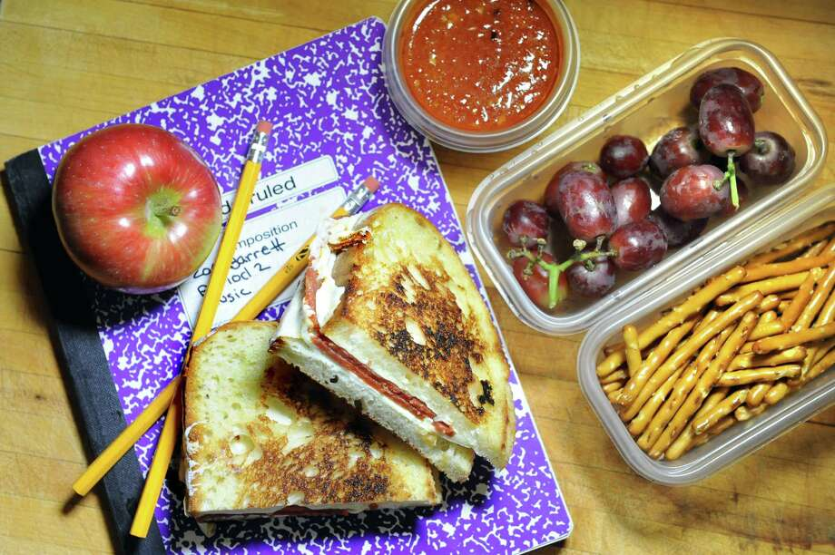 Pepperoni Mozzerella Grill Cheese with marinara on Friday, Aug. 28, 2015, in Delmar, N.Y. (Cindy Schultz / Times Union) Photo: Cindy Schultz / 00033074A