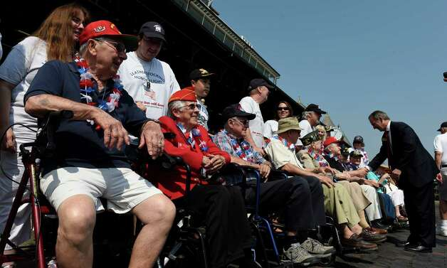 Members of various services were honored on Military Appreciation Day at the Saratoga Race Course Wednesday Sept. 2, 2015  in Saratoga Springs, N.Y.    (Skip Dickstein/Times Union) Photo: SKIP DICKSTEIN