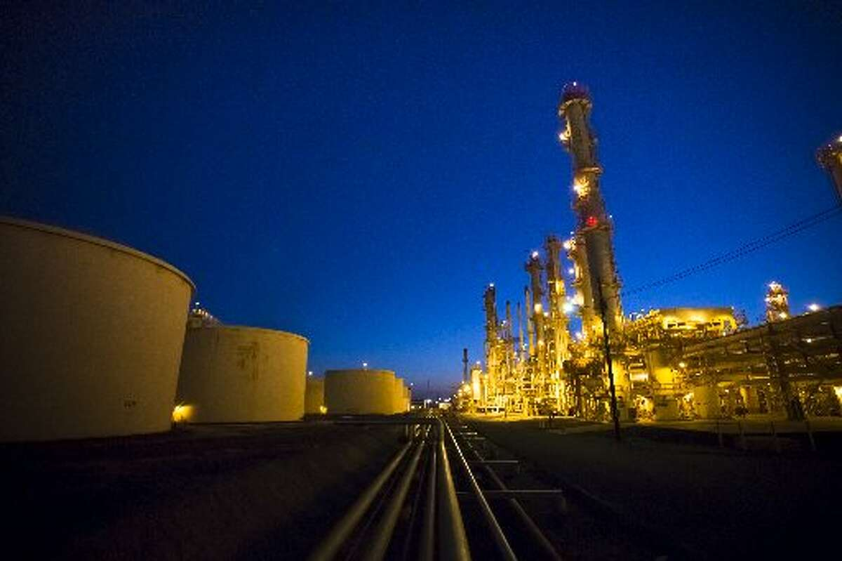 The lights of Houston-based Par Petroleum Corp.'s refinery in Hawaii illuminate the South Pacific night. (Par Petroleum Corp./Chronicle file)