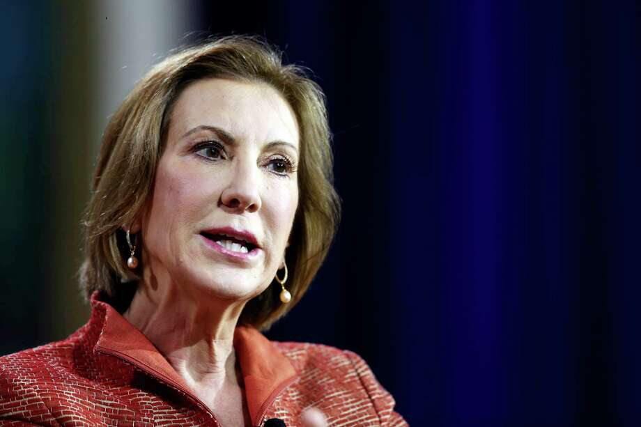 Republican presidential candidate Carly Fiorina, the former Hewlett-Packard chief executive speaks during an education summit Wednesday, Aug. 19, 2015, in Londonderry, N.H. (AP Photo/Jim Cole) Photo: Jim Cole, STF / Associated Press / AP
