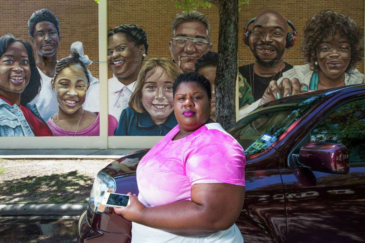 """Uber driver Lateefah Eburuche says business is """"surging"""" in the Third Ward. She says word of mouth about the service's availability would increase usage. If """"cabs do well, Uber would do well."""" Eric Kayne/For the Chronicle"""