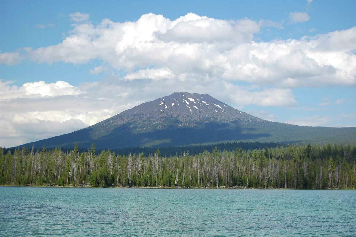 Mount Bachelor: Oregon's perpetually single peak rises 9,068 feet above sea level and supports a serious ski area. But the name might be misleading. This