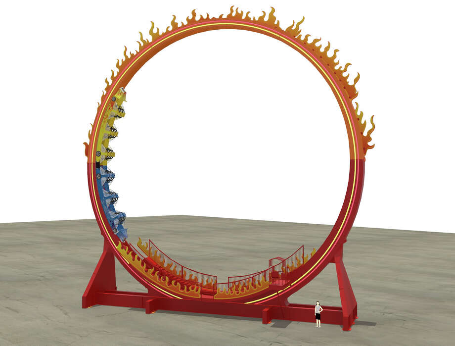 The Fireball, a 72-foot loop coaster, is set to open in the boardwalk area of Six Flags Fiesta Texas by summer 2016. Photo: /