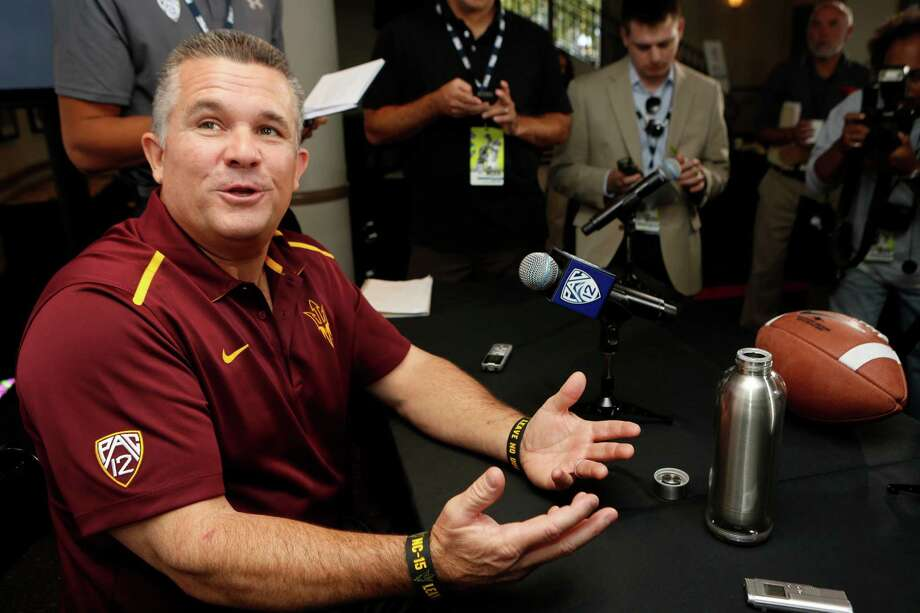 Arizona State head coach Todd Graham  takes questions at the 2014 Pac-12 NCAA college football media days at Paramount Studios in Los Angeles Thursday, July 24, 2014. (AP Photo) Photo: STF / AP