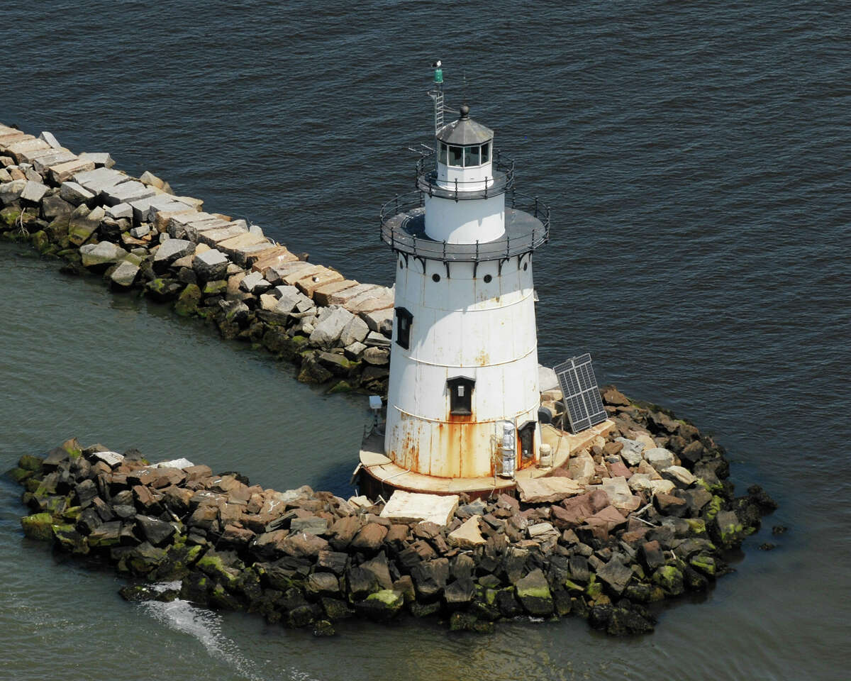 Saybrook Breakwater Lighthouse, Saybrook, Conn. June 9th, 2013. Morgan Kaolian AEROPIX