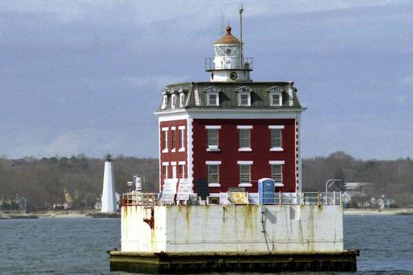 Courtesy U.S. Lighthouse Society Archive, uslhs.org New London Ledge Lighthouse is on the Thames River at the mouth of New London Harbor in Groton, Conn.
