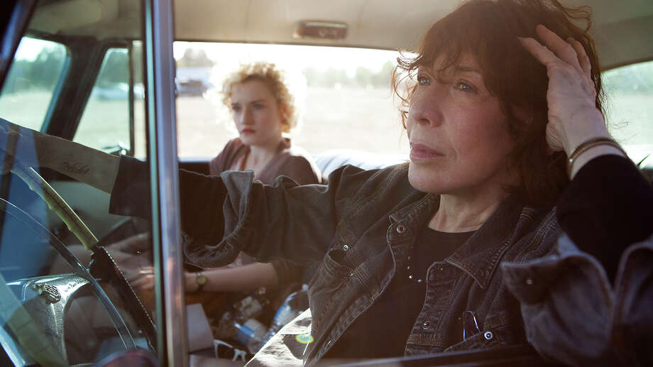 "Elle (Lily Tomlin), right, comes to the rescue of her pregnant granddaughter Sage (Julia Garner) in ""Grandma.""  Courtesy of Sony Pictures Classics Photo: Handout / ONLINE_YES"