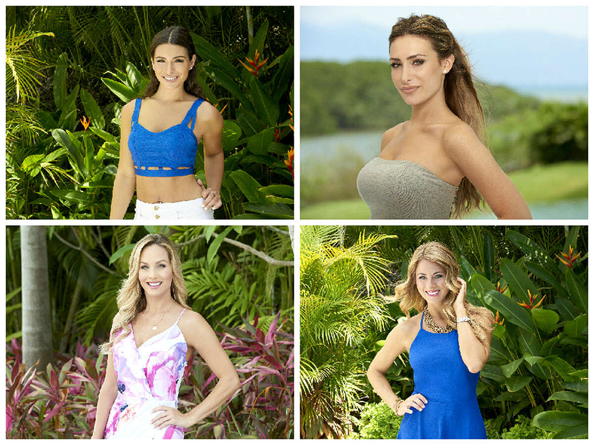 """Ashley, top left, and Lauren, top right, are the 20-something sisters on ABC's """"Bachelor in Paradise."""" Their """"older"""" enemies are Clare, bottom left, 34, and Tenley, 31."""