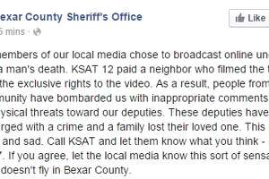 Sheriff's Office apologizes to KSAT for response to release of Gilbert Flores shooting video - Photo