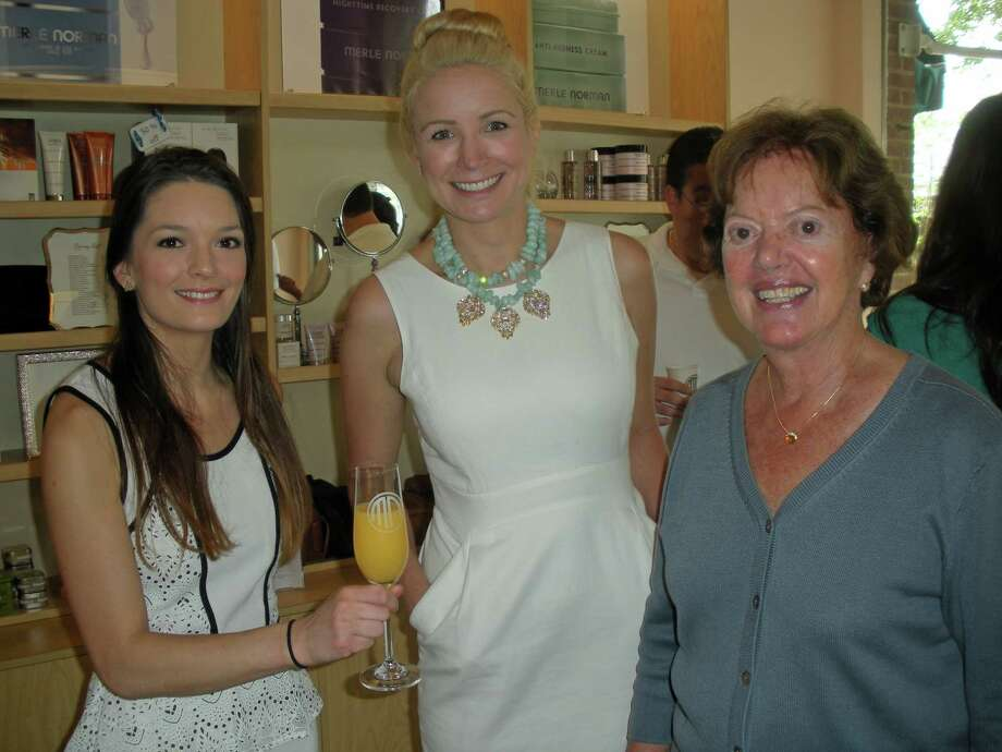On September 3, 2015, Halstead Property announced the acquisition of Barbara Cleary's Real Estate Guild in New Canaan, with Cleary to remain with the company as lead broker in the office. Cleary, right, is pictured in 2013 at Merle Norman Cosmetics & Boutique in New Canaan. Photo: Contributed Photo / Contributed / New Canaan News Contributed