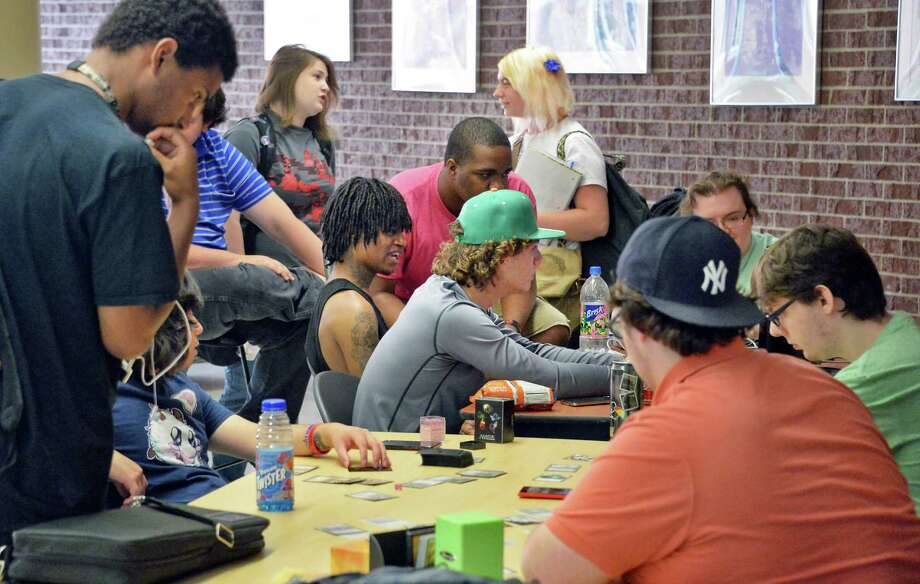 Students crowd the student commons as Schenectady County Community College holds its first day of classes for the fall 2015 semester Thursday Sept. 3, 2015 in Schenectady, NY.  (John Carl D'Annibale / Times Union) Photo: John Carl D'Annibale / 00033227A