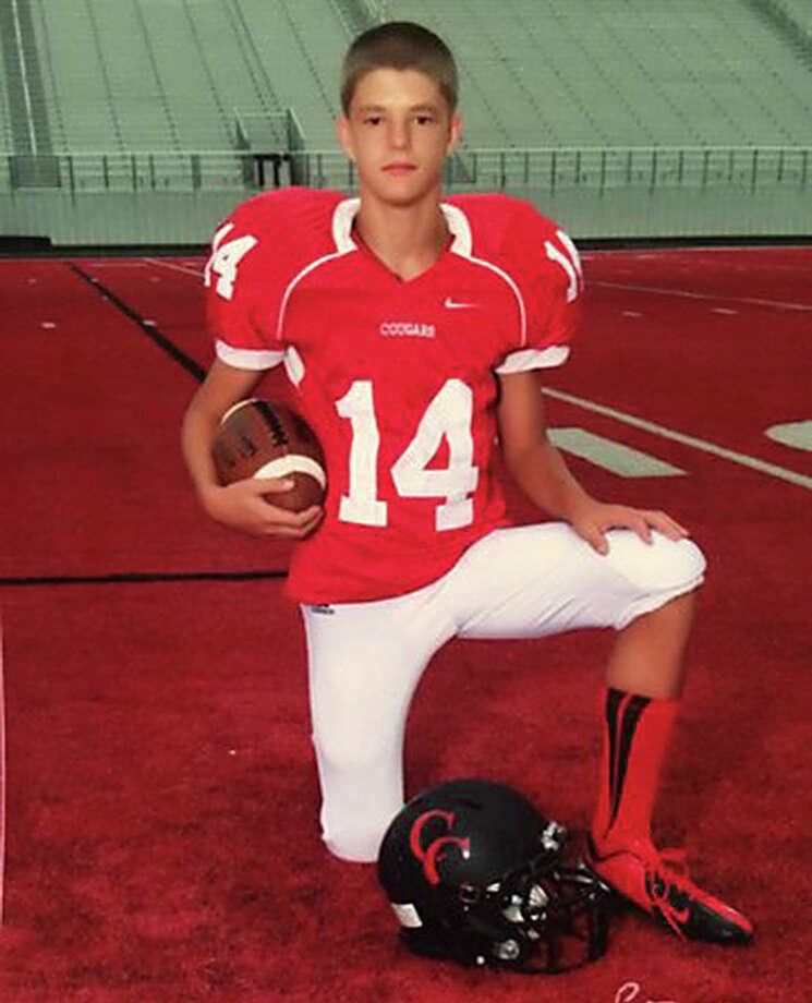 Logan Davidson was fatally injured at Canyon High School in New Braunfels on Nov. 12, 2013. Photo: /Courtesy Matthew Davidson
