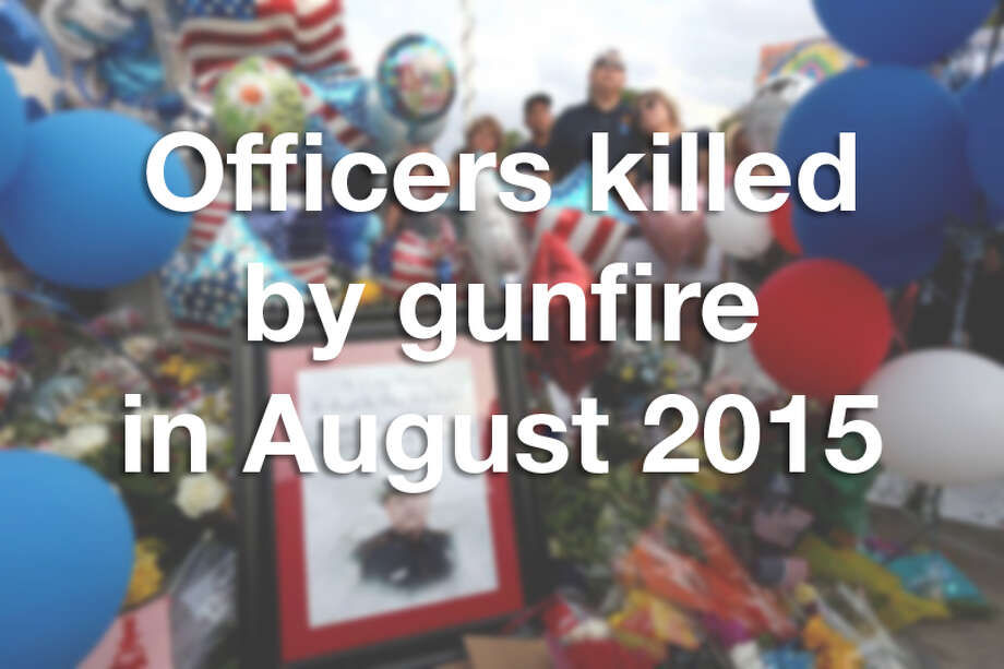 While the number of police officers killed by gunfire this year is down from previous years, it might seem like more due to the eight officers who died by gunfire in August 2015. Click through to see the officers.