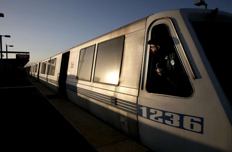 A San Francisco bound train picks up passengers at the West Oakland station, in Oakland, Calif. on Thurs. September 3, 2015. With gas prices low, travel is expected to be up, especially by car. Folks sticking around the Bay Area could also encounter chaos when BART will shut down the Transbay Tube for three days for repairs. Photo: Michael Macor, The Chronicle