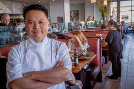 Chef Charles Phan at the Slanted Door in  San Francisco, Calif., is seen on March 26th, 2015.