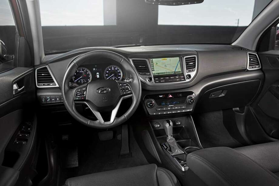 Tucson's six-speaker audio system is controlled through a 5-inch color touchscreen. An AM/FM, SiriusXM radio; CD and MP3; USB and auxiliary input jacks; as well as Bluetooth and voice recognition are standard. Photo: Hyundai