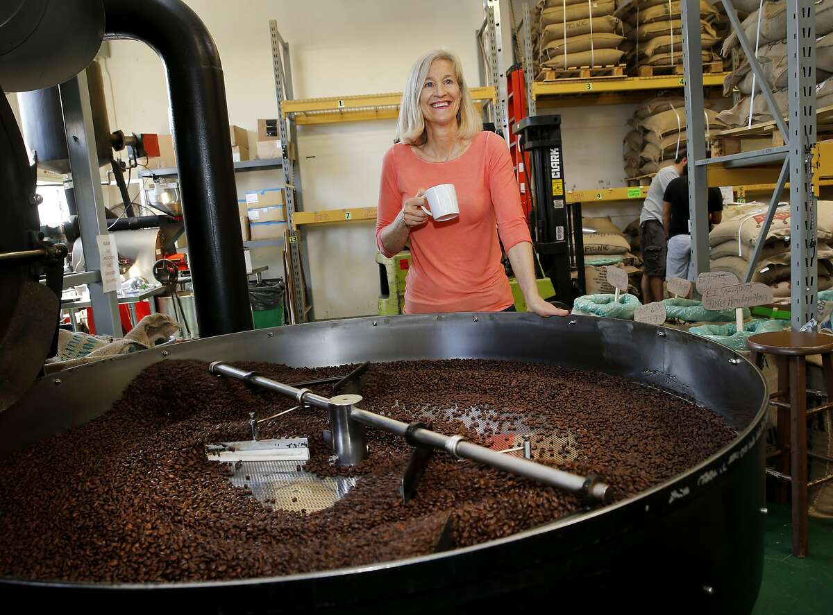 Equator Coffee co-founder Brooke McDonnell at the company's roasting plant in San Rafael. Equator purchases about one third of its coffee from Fair Trade USA certified coffee growers.