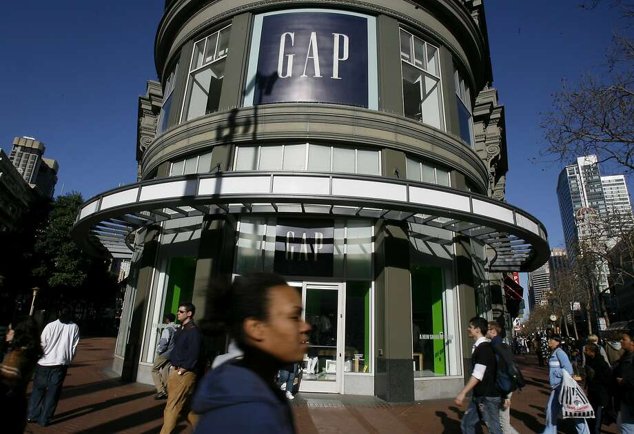 The Gap's flagship store is at Powell and Market streets in San Francisco, down the block from Old Navy.  Photo: Brant Ward, SFC