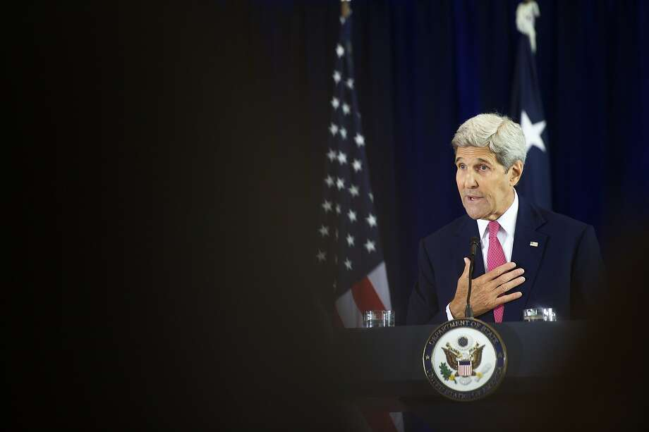 PHILADELPHIA, PA - SEPTEMBER 2:  U.S. Secretary of State John Kerry delivers a speech on the nuclear agreement with Iran at the National Constitution Center on September 2, 2015 in Philadelphia, Pennsylvania. U.S. Sen. Barbara Mikulski (D-MD) announced her support for the Iran nuclear deal, becoming the 34th Democratic senator to back the president and garnering enough votes for the deal to survive in congress.  (Photo by Mark Makela/Getty Images) Photo: Mark Makela, Getty Images