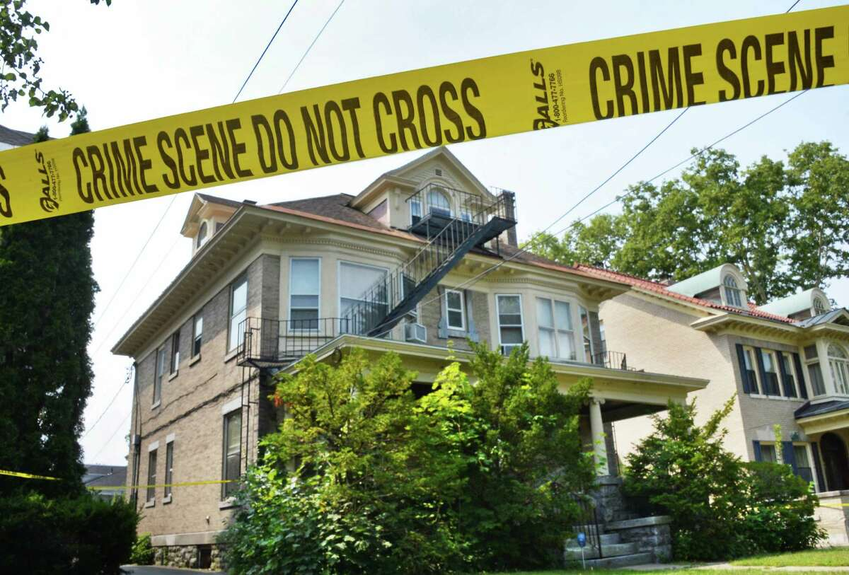 House at 1330 Union St. where police are continuing to investigate the discoveries yesterday of a disoriented man and a woman?'s decomposed body Thursday Sept. 3, 2015 in Schenectady, NY. (John Carl D'Annibale / Times Union)