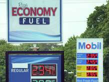 Rizzo's Economy Fuel on Newtown Road in Danbury has one of the lowest gas prices around Monday, August 31, 2015.
