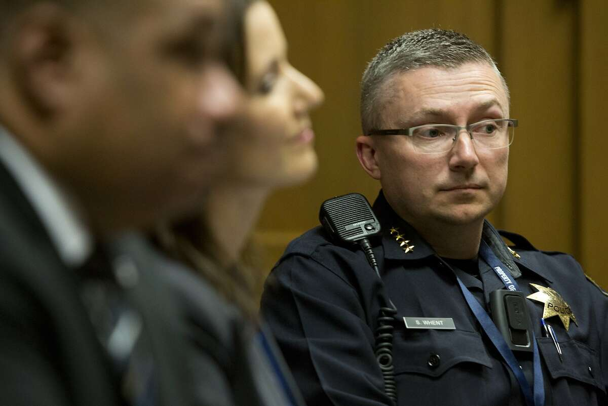 Chief of the Oakland Police Department Sean Whent during an editorial board meeting at the Chronicle on September 3, 2015 in San Francisco, Calif.