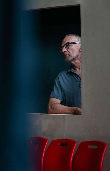 """Joe Goode rehearses for his latest work, """"Poetics of Space"""", a blend of drama and choreography in installations which viewers walk through, on Wednesday, Sept. 2, 2015 in San Francisco, Calif. Goode celebrates 30 years working in dance theater this year. Photo: Nathaniel Y. Downes, The Chronicle"""