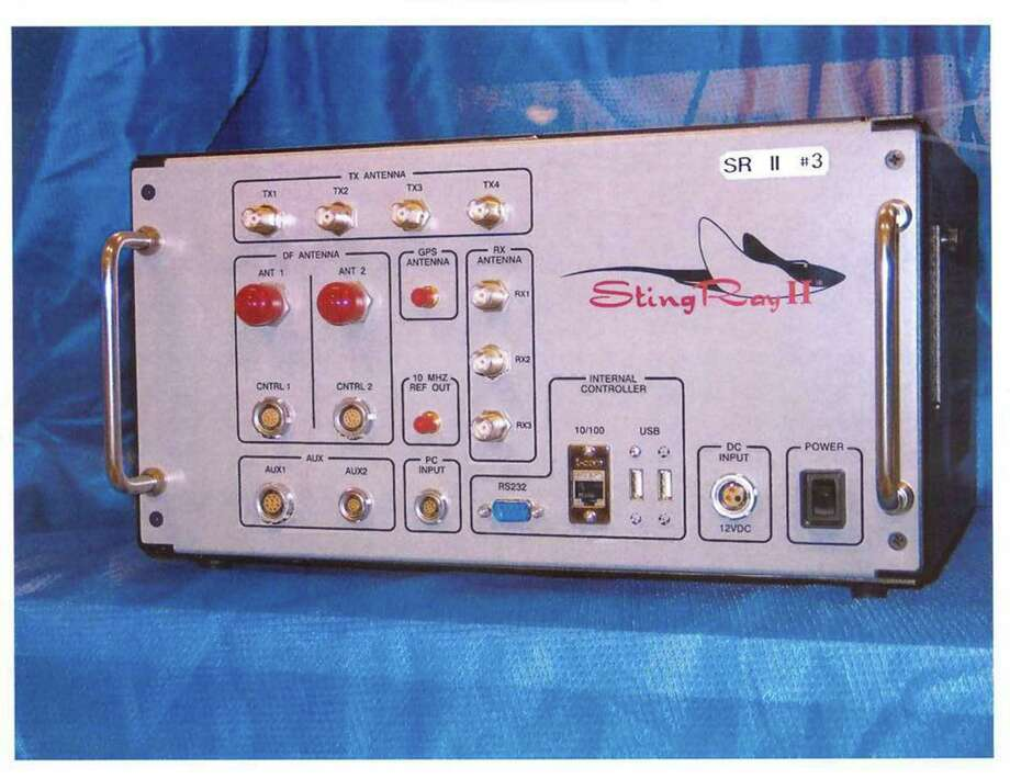 The StingRay, manufactured by Harris Corp. of Melbourne, Fla., is a cell-site simulator used for surveillance purposes. Photo: Uncredited, HOGP / U.S. Patent and Trademark Office