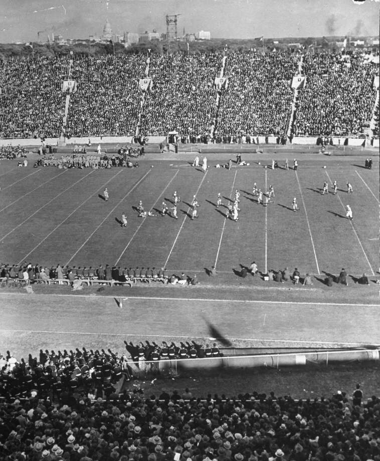 20. Camp Randall Stadium (Wisconsin)Then: Marquette and Wisconsin square off in a 1939 game at the stadium, which was built in 1917 and is the nation's fourth-oldest stadium. Its opening capacity was 10,000. Photo: Alfred Eisenstaedt, Getty Images / Time & Life Pictures/Getty Images